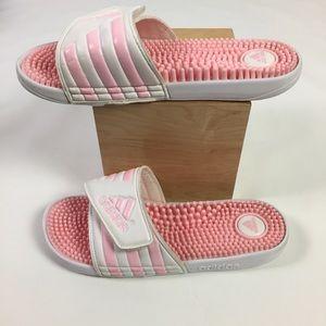 adidas Shoes - Adidas Slides Massage Sandals size 8 Pink & White